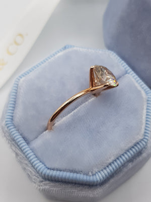 2 Carat Round Brilliant Cut Diamond Engagement Ring in Rose Gold