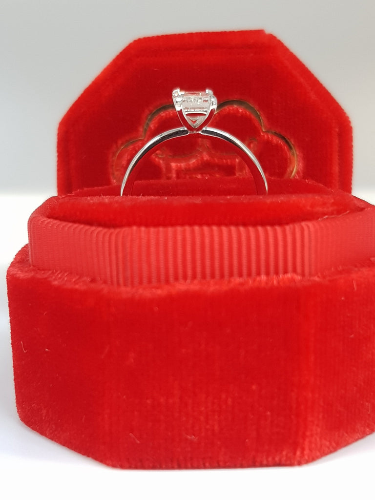 1.01 Carat Emerald Cut Diamond Engagement Ring