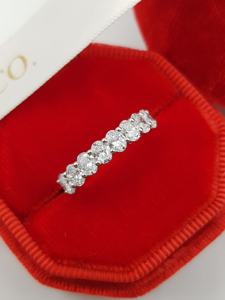 1.20 ct Oval Cut Diamond Eternity Band