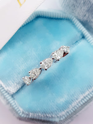 1.40 ct Pear Shape Diamond Eternity Band