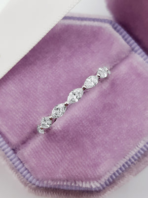 1.30 ct Marquise Cut Diamond Eternity Band