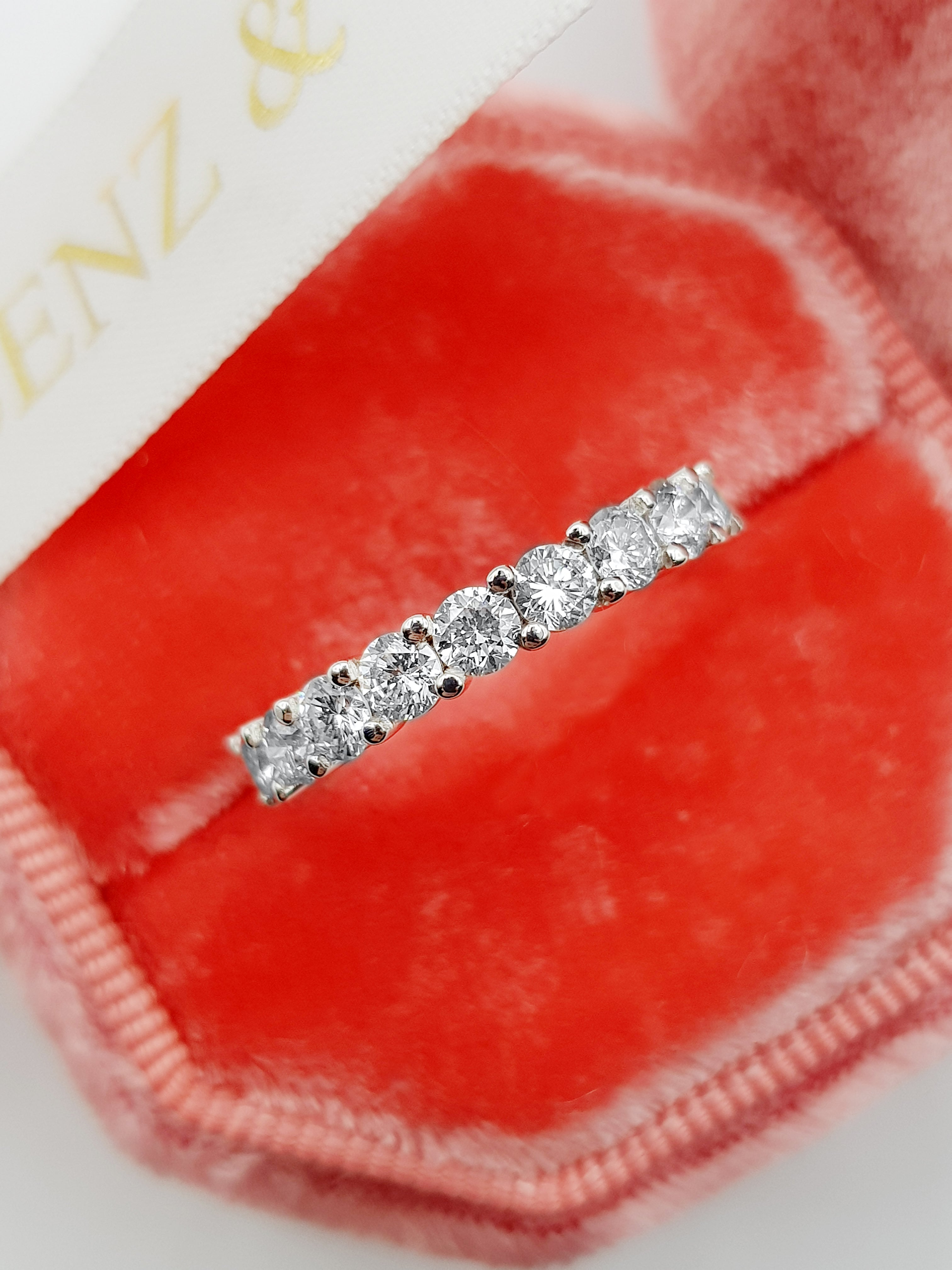 2.5 ct Round Brilliant Cut Diamond Eternity Band