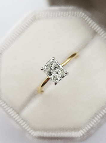 1 Carat Radiant Cut Diamond Engagement Ring