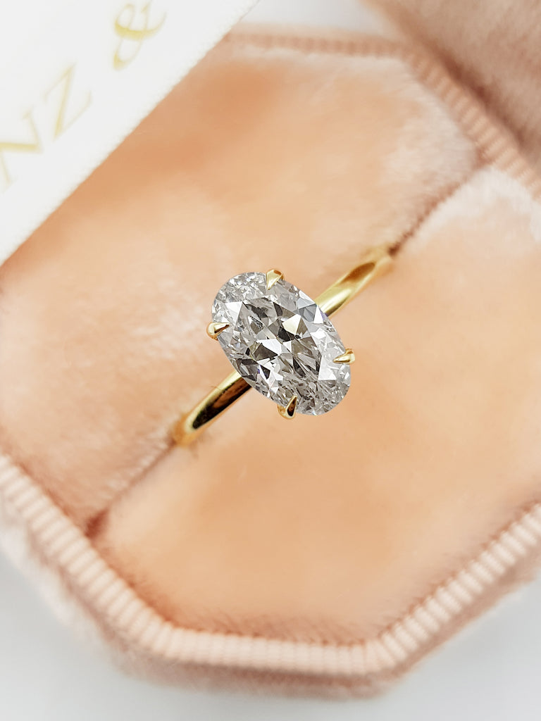 1.55 Carat Oval Cut Solitaire Diamond Engagement Ring