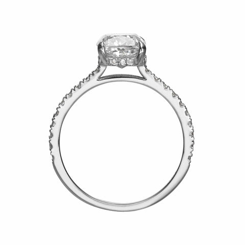 2.58 ct Cushion Cut Diamond Engagement Ring