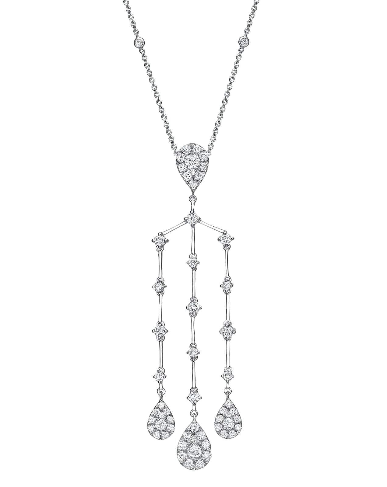 Necklaces benzdiamonds 336 ct illusion chandelier necklace aloadofball Images