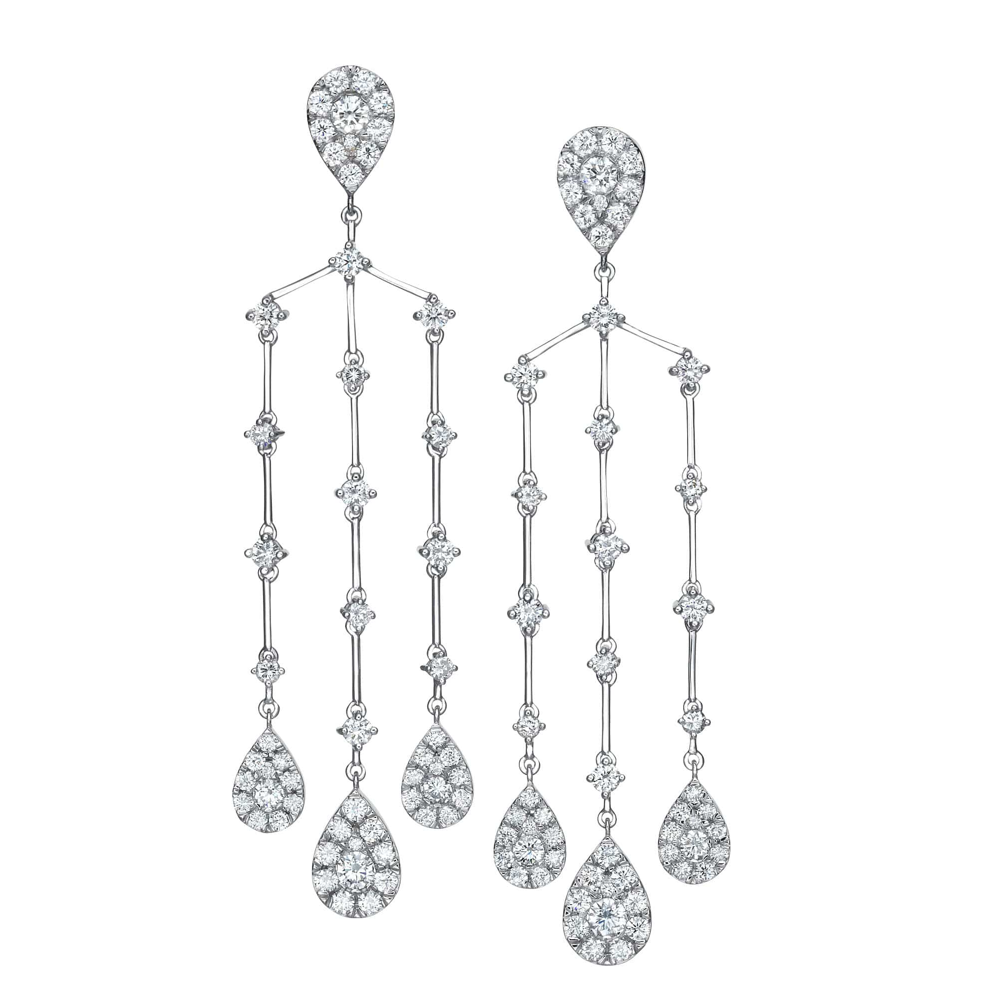 6.12 ct Illusion Set Chandelier Earrings