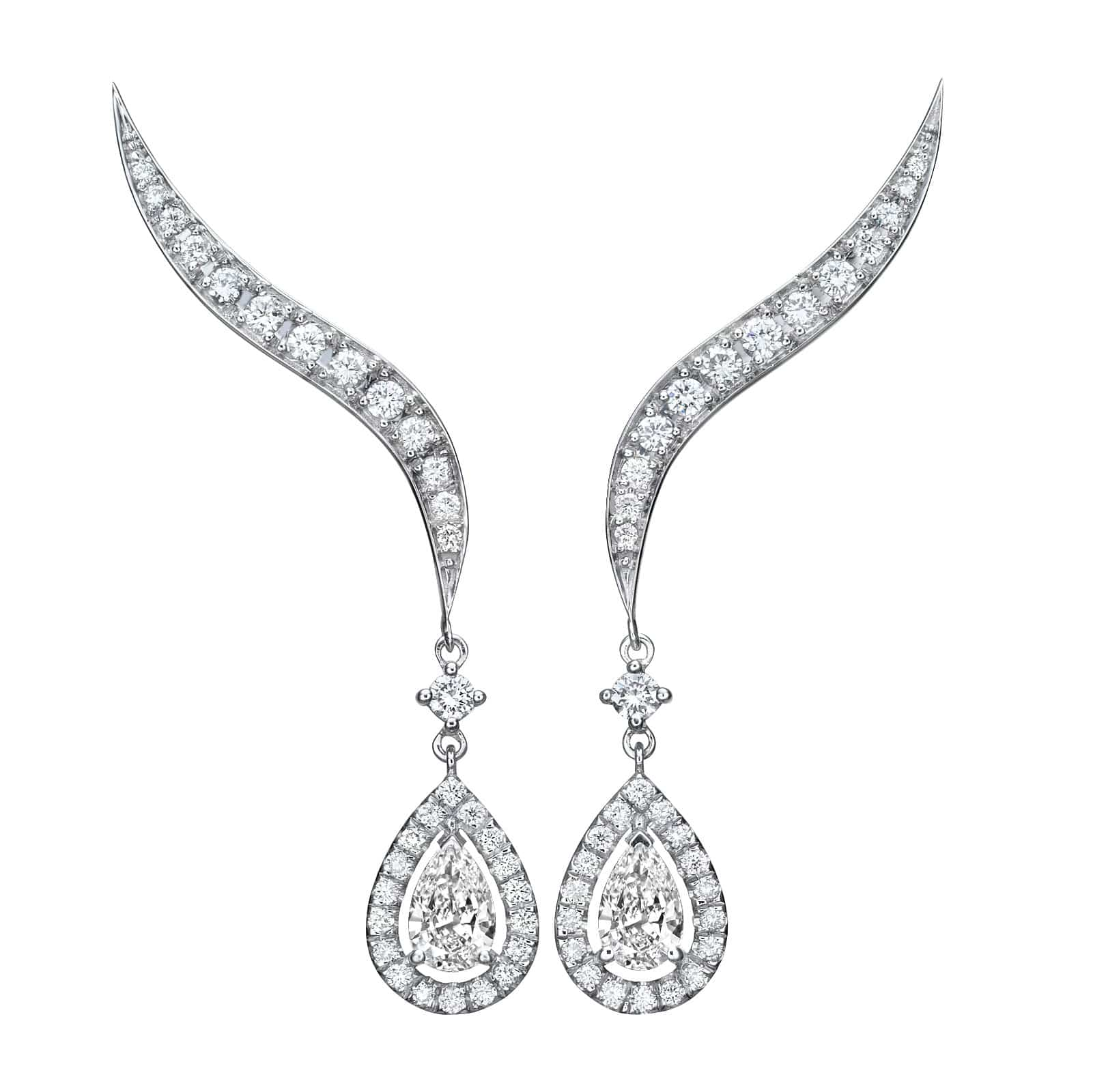 1.52 ct Climber Earrings - Pearfection Collection