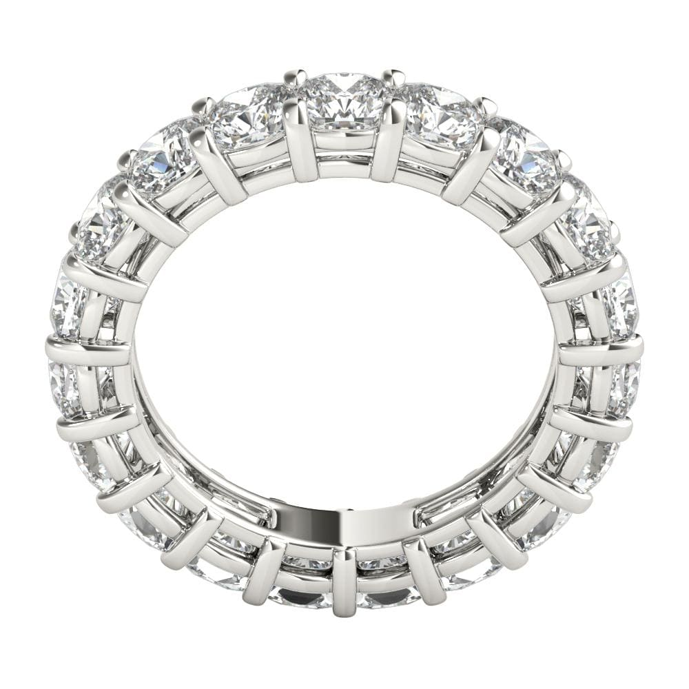 4 ct Cushion Cut Diamond Eternity Band in Platinum