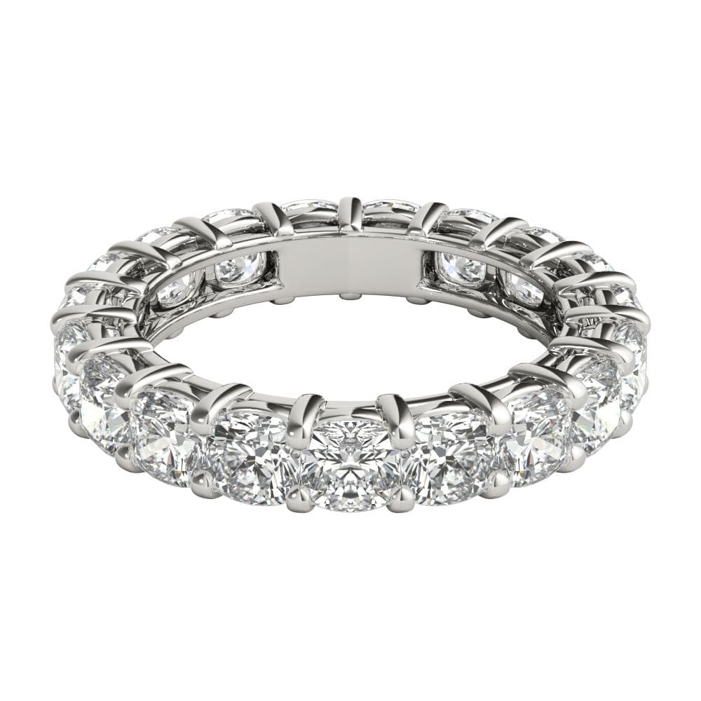 4 ct cushion cut diamond eternity band in platinum - 5000 Wedding Ring