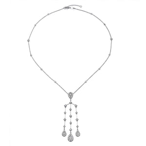 3.36 CT ILLUSION CHANDELIER NECKLACE