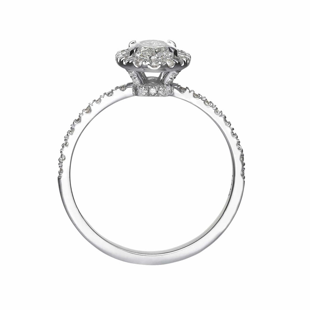 1.56 ct Oval Cut Diamond Engagement Ring