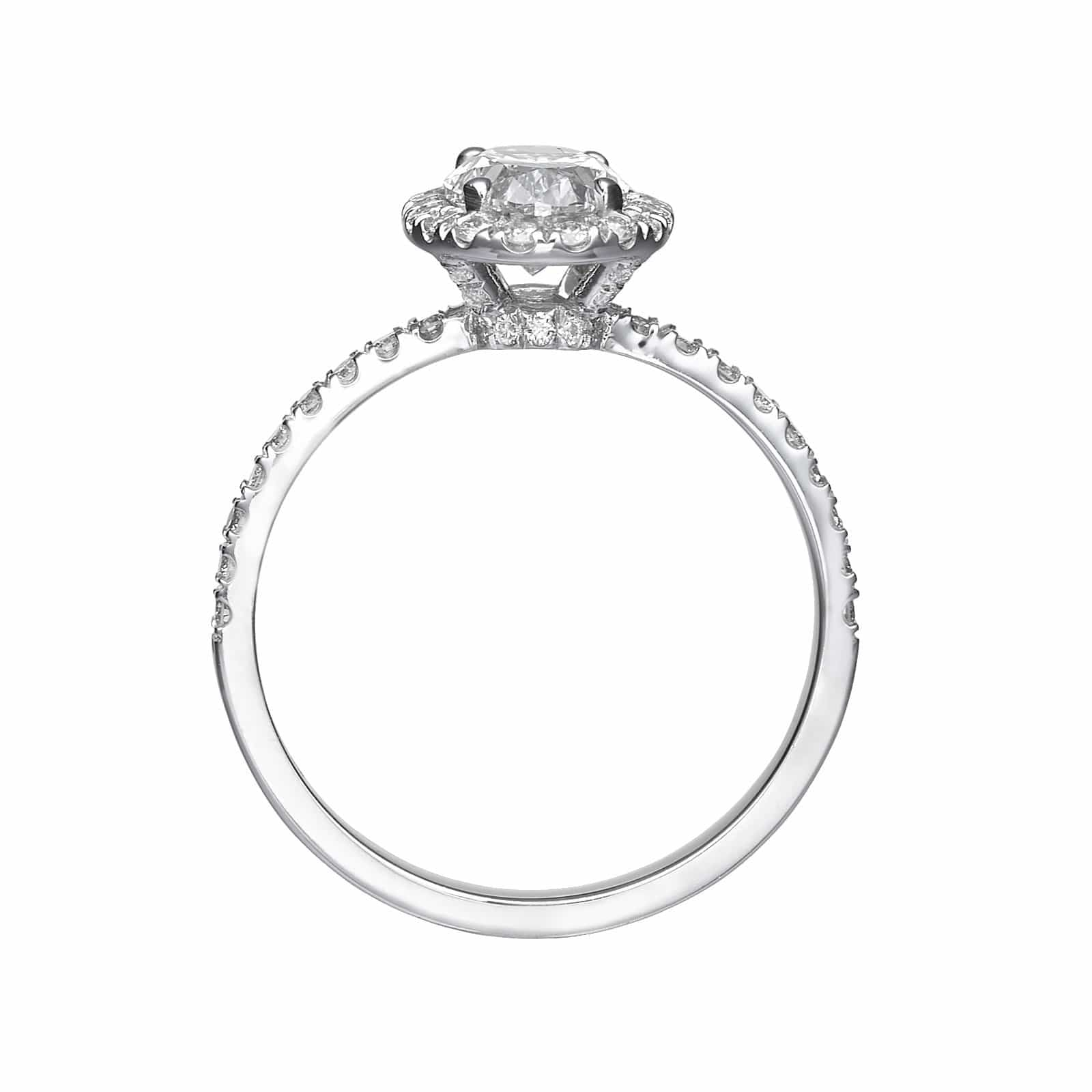 1.62 ct Oval Cut Diamond Engagement Ring