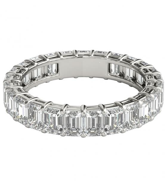 2 ct Emerald Cut Diamond Eternity Band