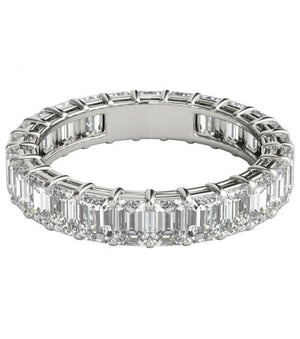 2 ct Emerald Cut Diamond Eternity Band in Platinum