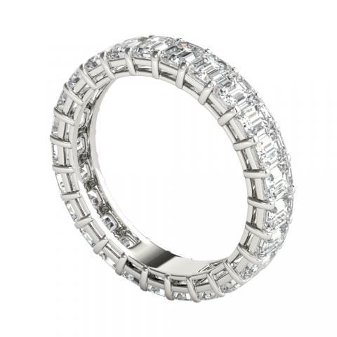 2.5 ct Emerald Cut Diamond Eternity Band