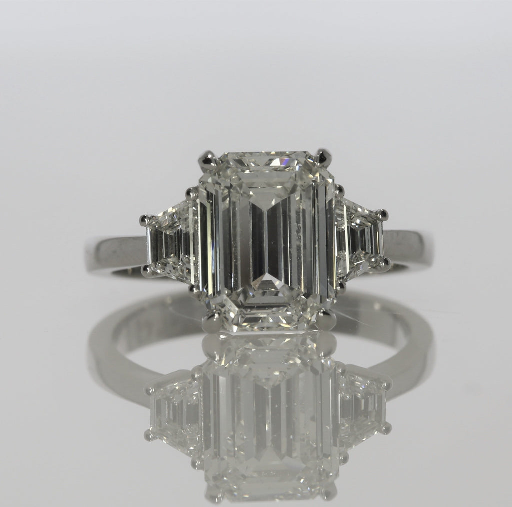 3.52 ct Emerald Cut Diamond Engagement Ring