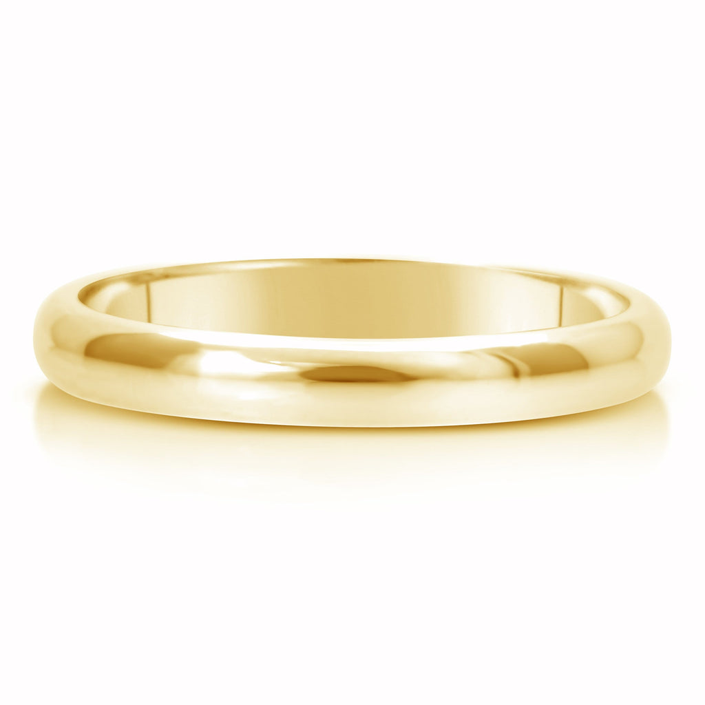 Comfort Fit Wedding Ring In 14K Gold (3mm)