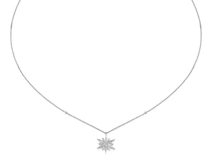 Mid Size Star Diamond Pendant Necklace