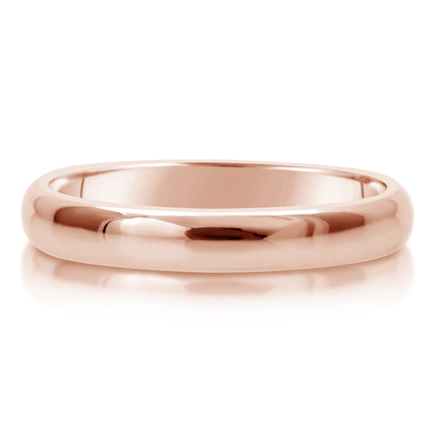 Comfort Fit Wedding Ring In 18K Gold (4mm)