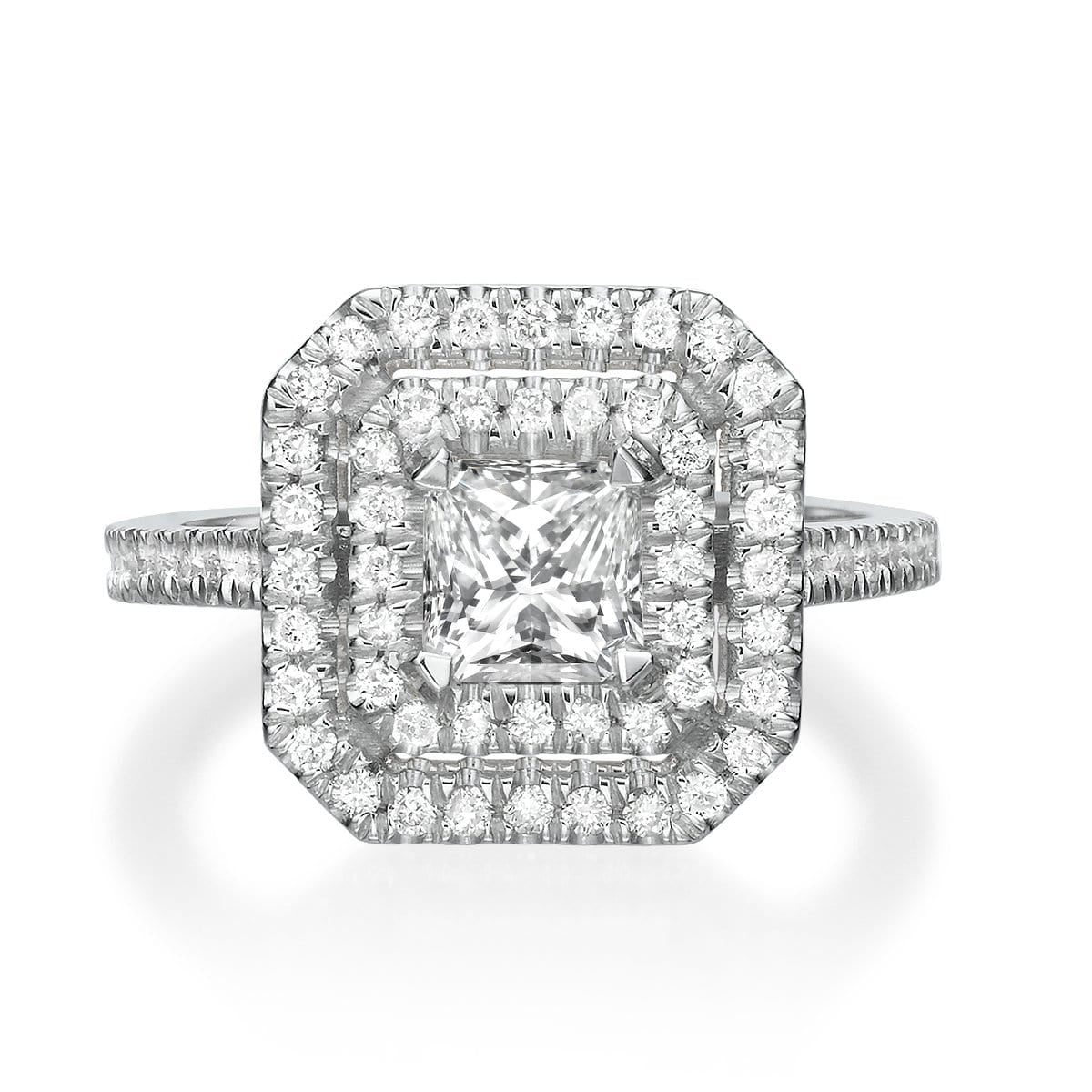1.87 ct Princess Cut Diamond Engagement Ring