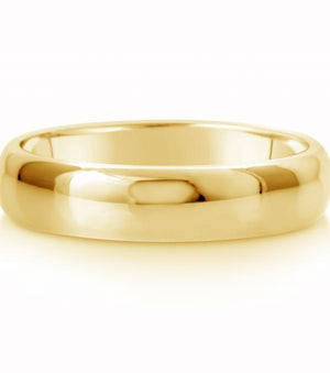 Comfort Fit Wedding Ring In 14K Gold (5mm)
