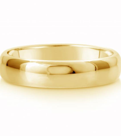 Comfort Fit Wedding Ring In 18K Gold (5mm)