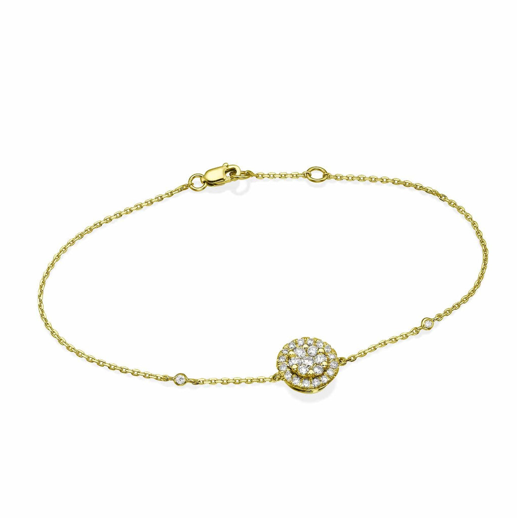 Big Round Diamond Cluster Bracelet In 18K Gold