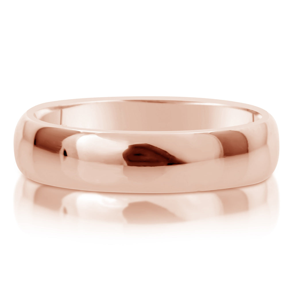 Comfort Fit Wedding Ring In 18K Gold (6mm)