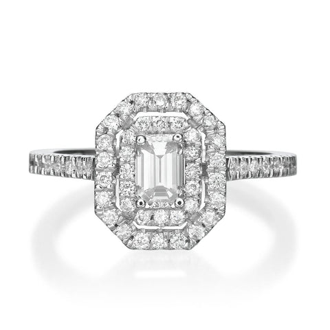 1.15 ct Emerald Cut Diamond Engagement Ring