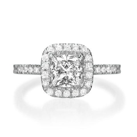 1.43 ct Princess Cut Diamond Engagement Ring