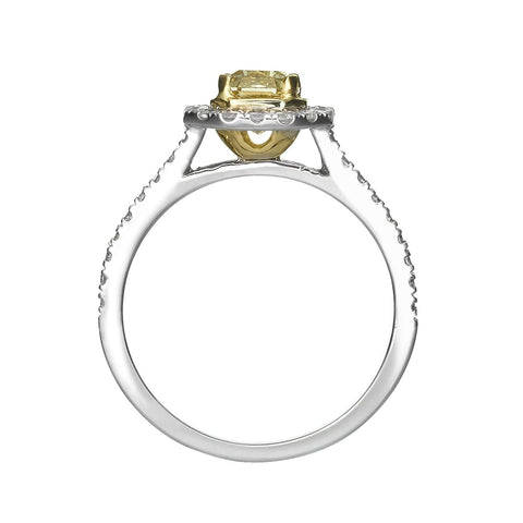 1.40 ct Fancy Intense Yellow Radiant Cut Diamond Engagement Ring