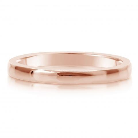 Comfort Fit Wedding Ring In 18K Gold (2mm)