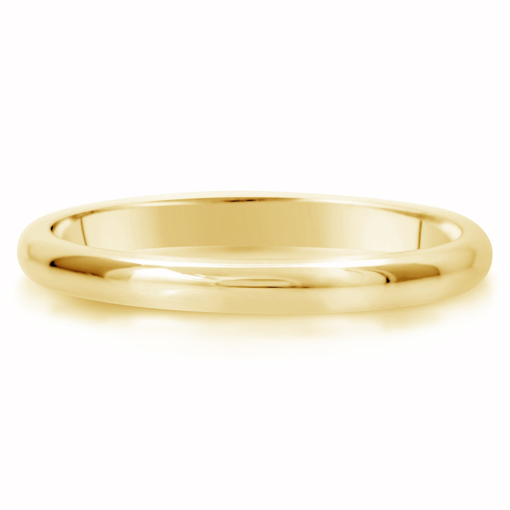 Comfort Fit Wedding Ring In 14K Gold (2mm)