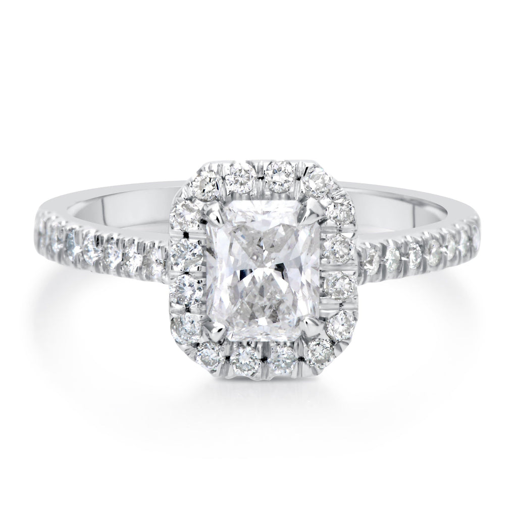 1.40 ct Radiant Cut Diamond Engagement Ring