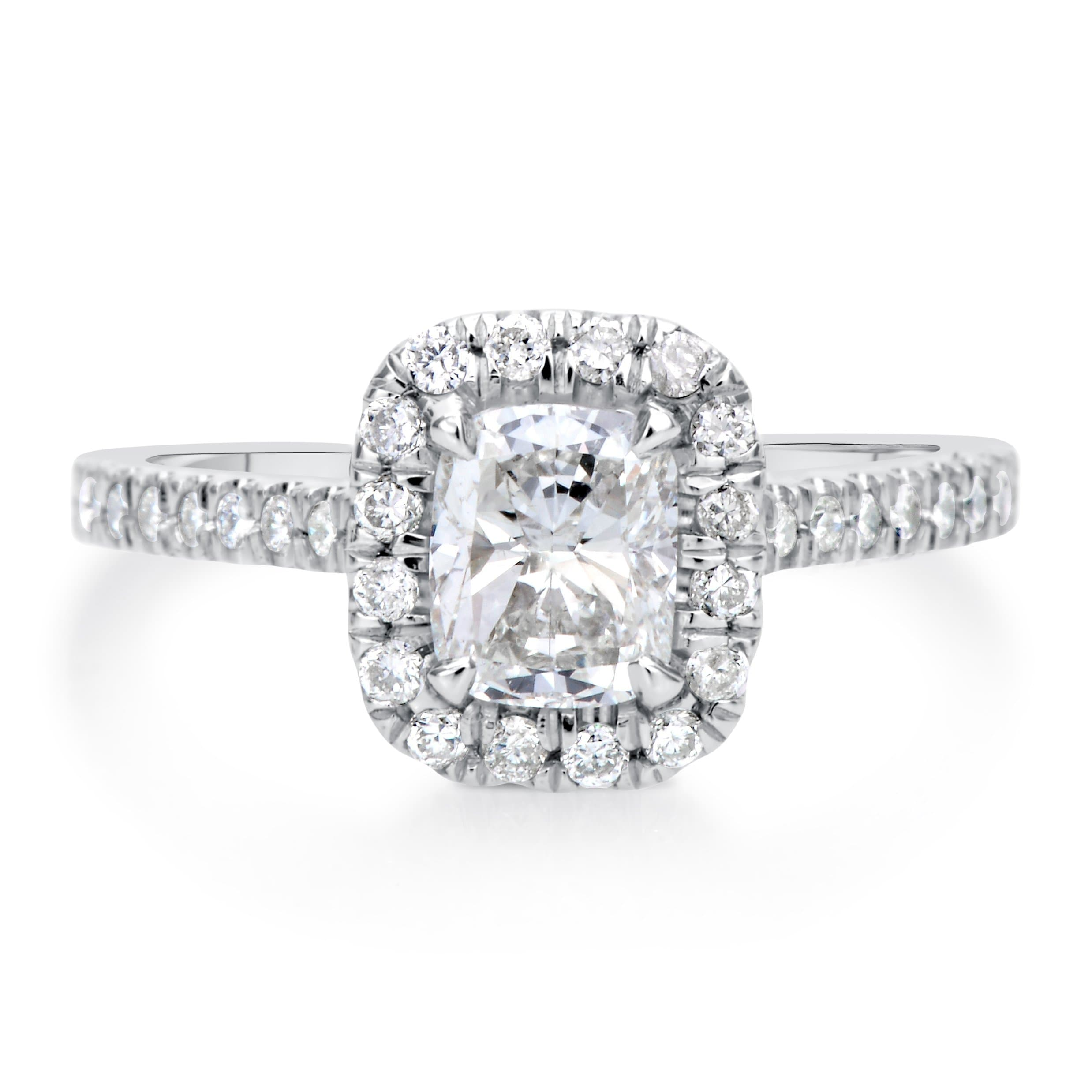 1.41 ct Cushion Cut Diamond Engagement Ring
