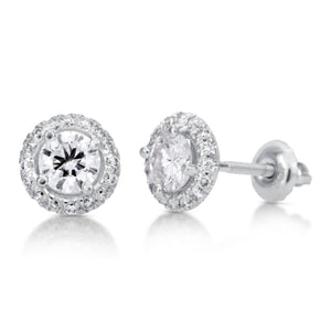 1.75 ct Round Brilliant Cut Diamond Stud Earrings