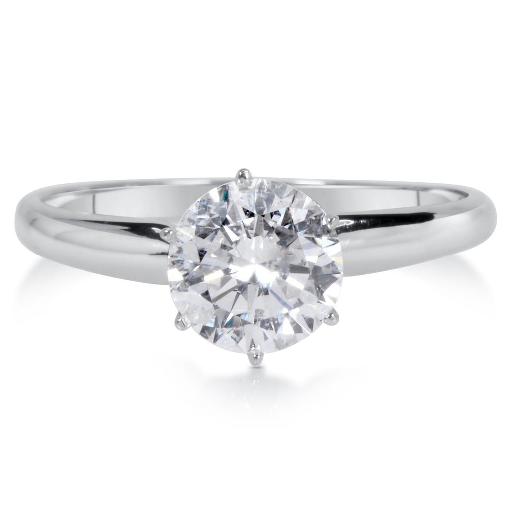 Engagement Rings Round Cut: 1 Ct Round Cut Diamond Engagement Ring