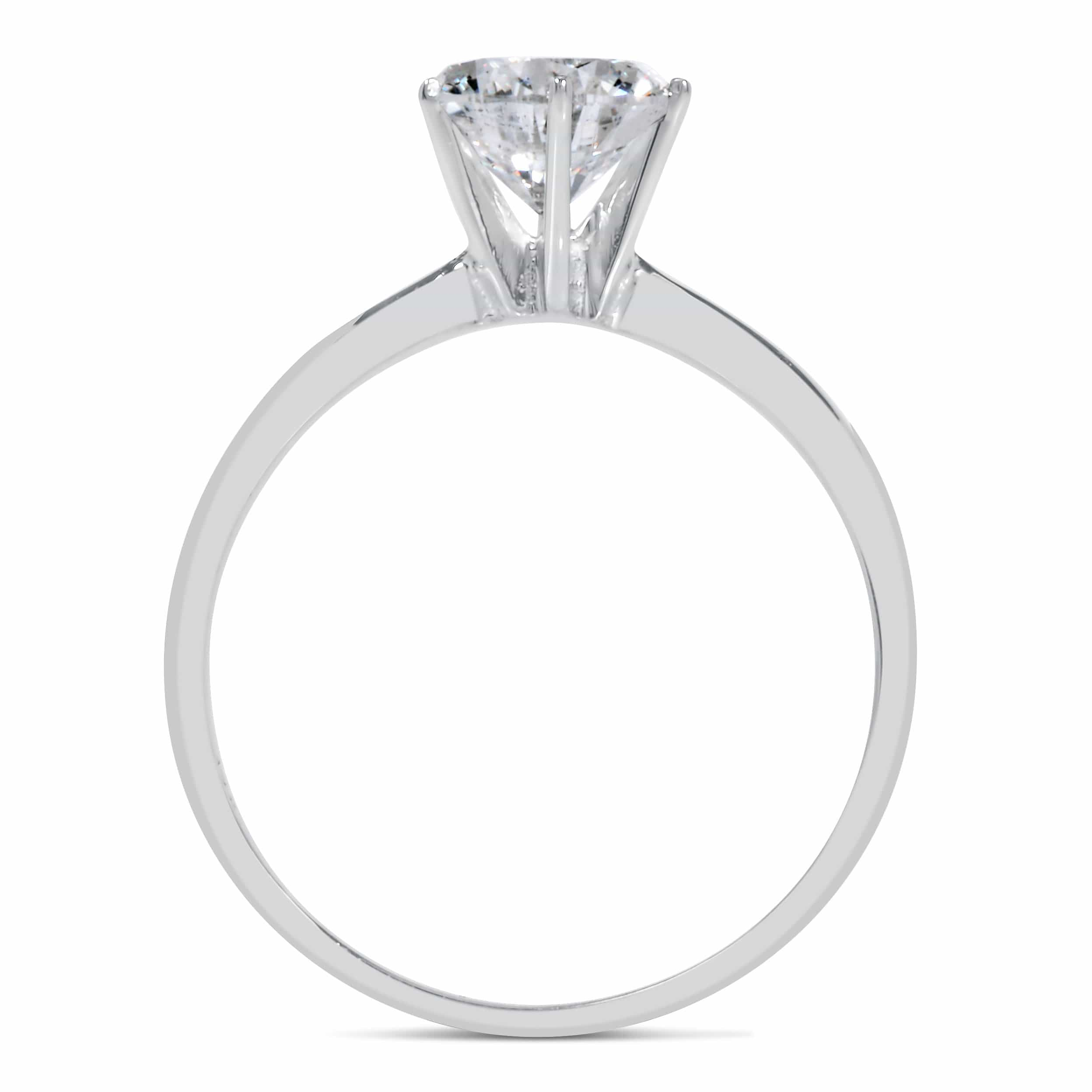 1 ct Round Cut Diamond Engagement Ring