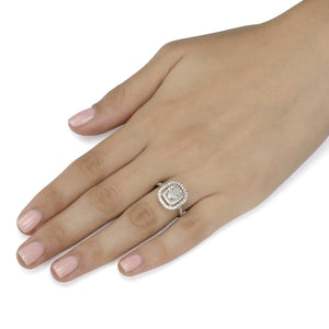 2.10 ct Cushion Cut Diamond Engagement Ring