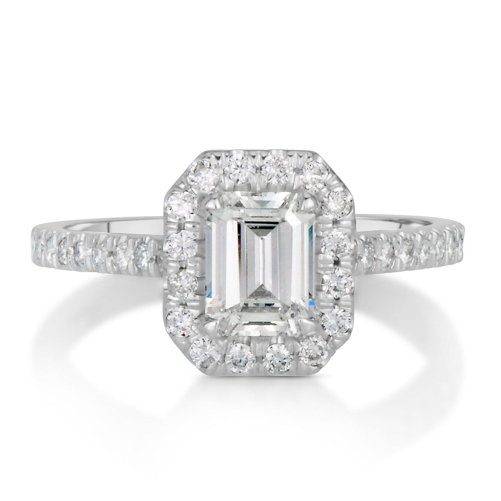 1.42 ct Emerald Cut Diamond Engagement Ring