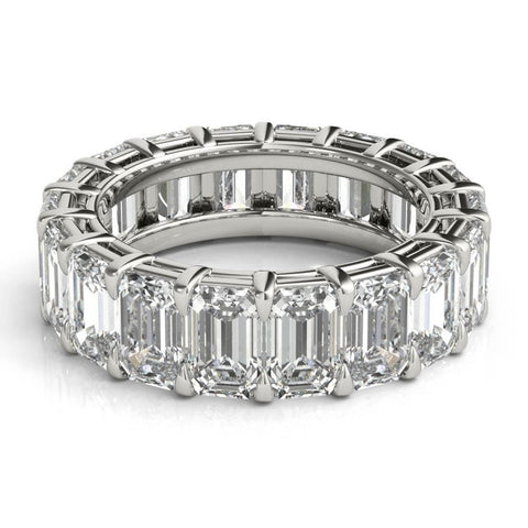 4 ct Emerald Cut Diamond Eternity Band