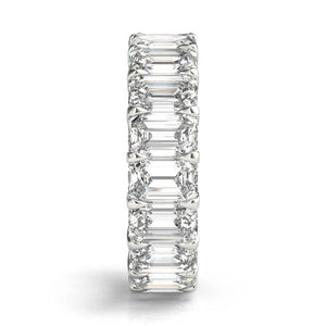 4 ct Emerald Cut Diamond Eternity Band in Platinum
