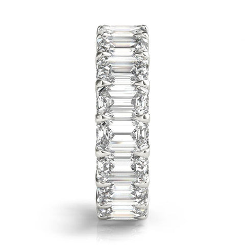 t diamond ct eternity carats band rose d w cut platinum gold emerald bands topleftview rosegold