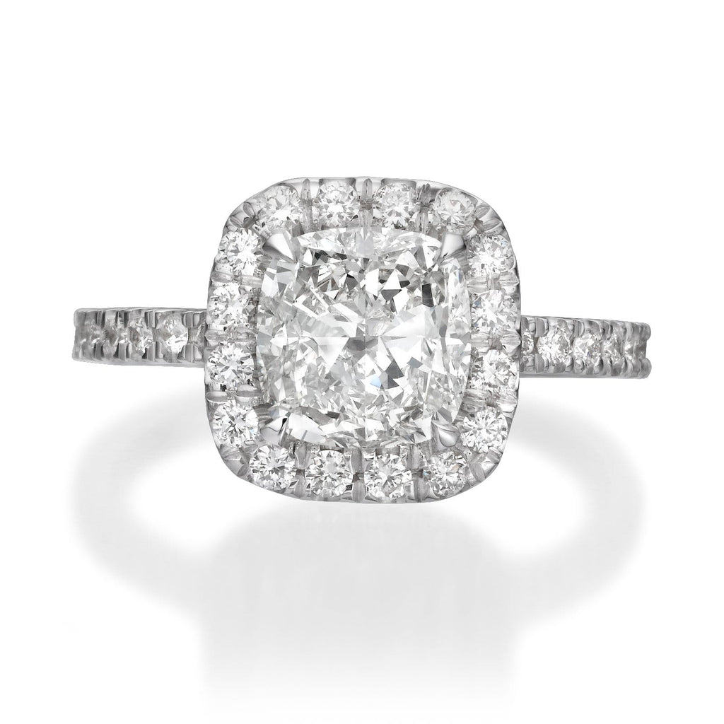 23a72f42e 2.25 ct Cushion Cut Diamond Engagement Ring – BenzDiamonds