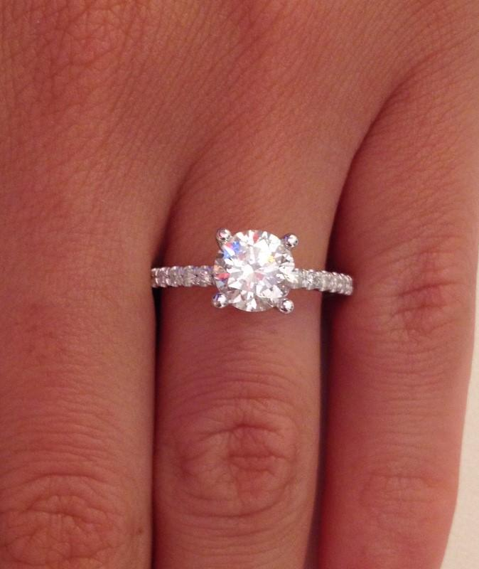 1.27 ct Round Brilliant Cut Diamond Engagement Ring