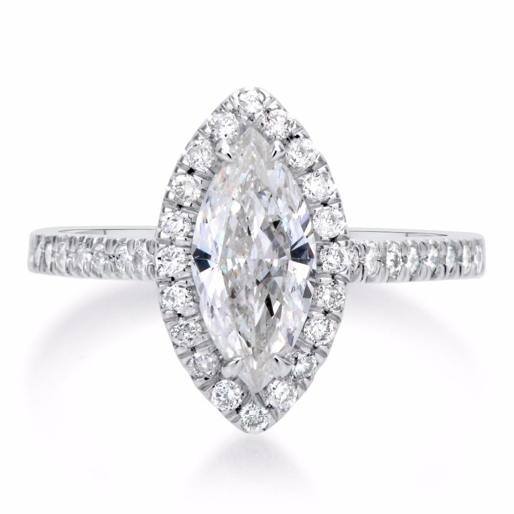 1.36 ct Marquise Cut Diamond Engagement Ring