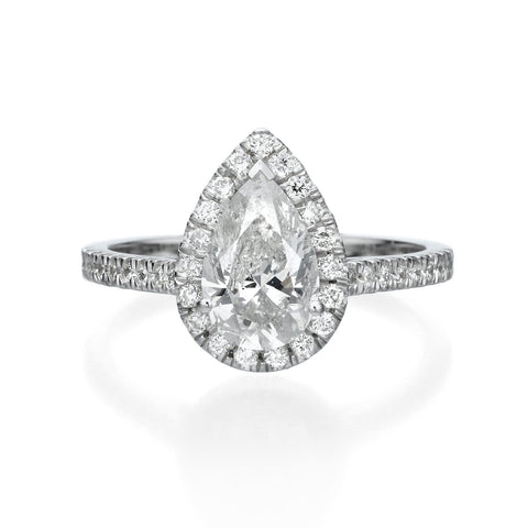 1.91 CT PEAR SHAPED DIAMOND ENGAGEMENT RING