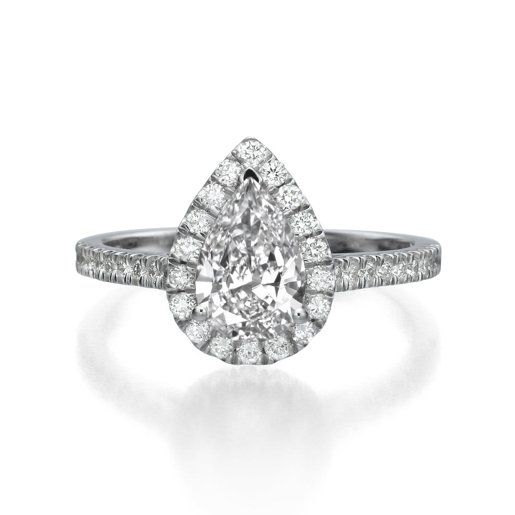 1.42 ct Pear Shaped Diamond Engagement Ring
