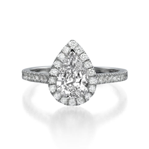 1.45 ct Pear Shaped Diamond Engagement Ring